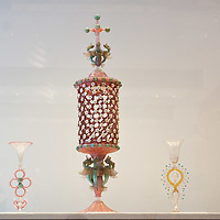 "VENICE, ITALY - DECEMBER 10: A  collection of Murano glass around mid 1800 on display at the press preview of the exhibition ""The Adventure of Glass"" at  Museo Correr on December 10, 2010 in Venice, Italy. After nearly thirty years Correr Museum is hosting a prestigious exhibition in celebration of over a thousands years history of glass in Venice and the Lagoon"