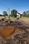 Pumpjacks in an oil field in Hosston, Louisiana, part of the Haynsville Shale region..