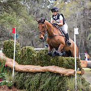 Lindsay Traisnel (CAN) and Bacyrouge at the Red Hills International Horse Trials in Tallahassee, Florida.