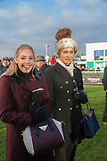 DANIELLE LLOYD WEBBER; BELLA LLOYD WEBBER, Hennessy Gold Cup, The Racecourse Newbury. 30 November 2013.