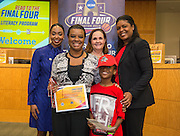 Anderson Elementary School is recognized during the reveal of the 32 finalists in the Houston ISD NCAA Read to the Final Four, November 11, 2015.