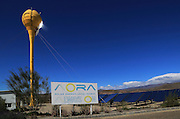 Heliostats reflect sunrays to receiver tower, solar energy scientific research centre, Tabernas, Almeria, Spain  - AORA Tulip System