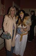 Meg Matthews and Fran Cutler. Frost French, Duke of York's theatre. St, Martin's Lane. 17/2/02© Copyright Photograph by Dafydd Jones 66 Stockwell Park Rd. London SW9 0DA Tel 020 7733 0108 www.dafjones.com