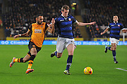 Hull City midfielder Ahmed Elmohamady ,Bolton Wanderers defender Robert Holding  during the Sky Bet Championship match between Hull City and Bolton Wanderers at the KC Stadium, Kingston upon Hull, England on 12 December 2015. Photo by Ian Lyall.