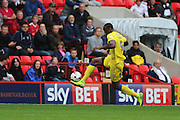 AFC Wimbledon striker Tom Elliott (9) in action during the EFL Sky Bet League 1 match between Charlton Athletic and AFC Wimbledon at The Valley, London, England on 17 September 2016. Photo by Stuart Butcher.
