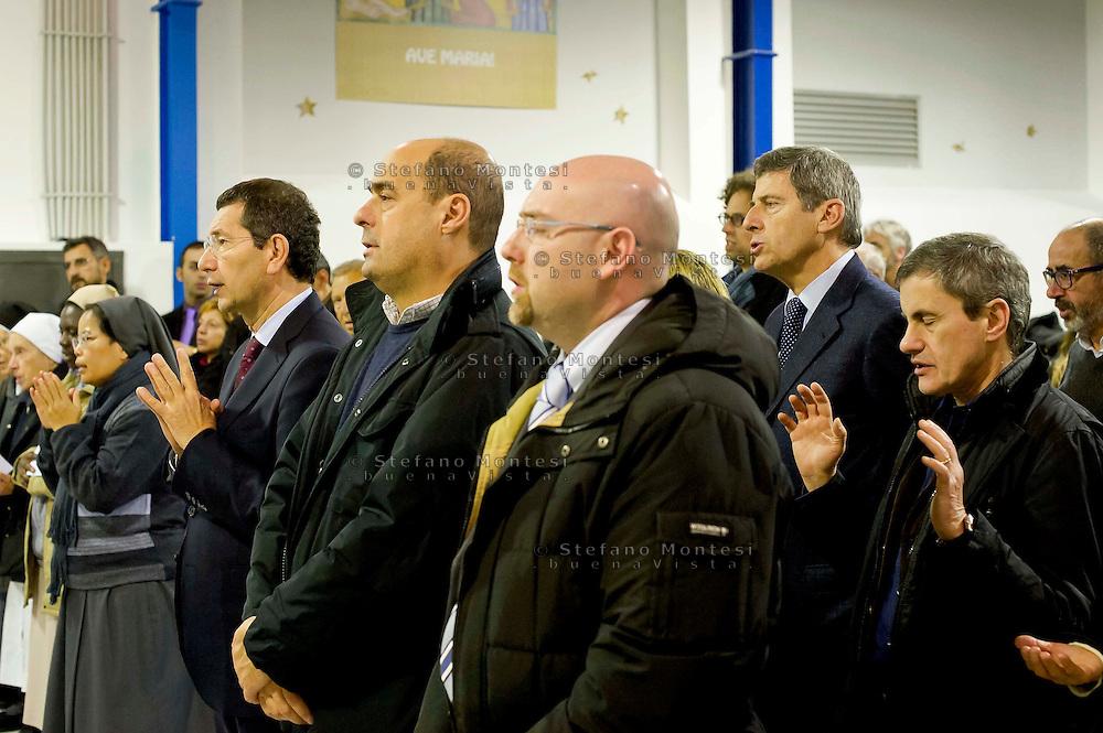 Roma 24  Dicembre 2013<br /> Messa di Natale con i poveri allla Cittadella della carit&agrave; Santa Giacinta ( Via Casilina Vecchia, 19),con gli ospiti, i volontari e gli operatori Caritas.