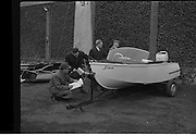 09/03/1964<br /> 03/09/1964<br /> 09 March 1964<br /> Esso Boat show Competition at the R.D.S. Grounds, where the Third Irish Boat Show was held. Judging the entries in the Best Amateur Built Boat competition were (l-r):Mr C. Hickey, Director, Hickey Boats Ltd., Renmore, Co. Galway; Mr G. O'Brien Kennedy, M.R.I.M.A., Chairman and Managing Director, O'Brien Kennedy Son and Co. Ltd., Boat Builders, Shannon Harbour, Co. Offaly; Mr J. Tyrell, Director, John Tyrell and Sons Ltd., Naval Architects, Yacht and Boat Builders, Arklow, Co. Wicklow and Mr J.H. Donovan, Director, Esso Petroleum Company (Ireland) Ltd., marking their score cards.