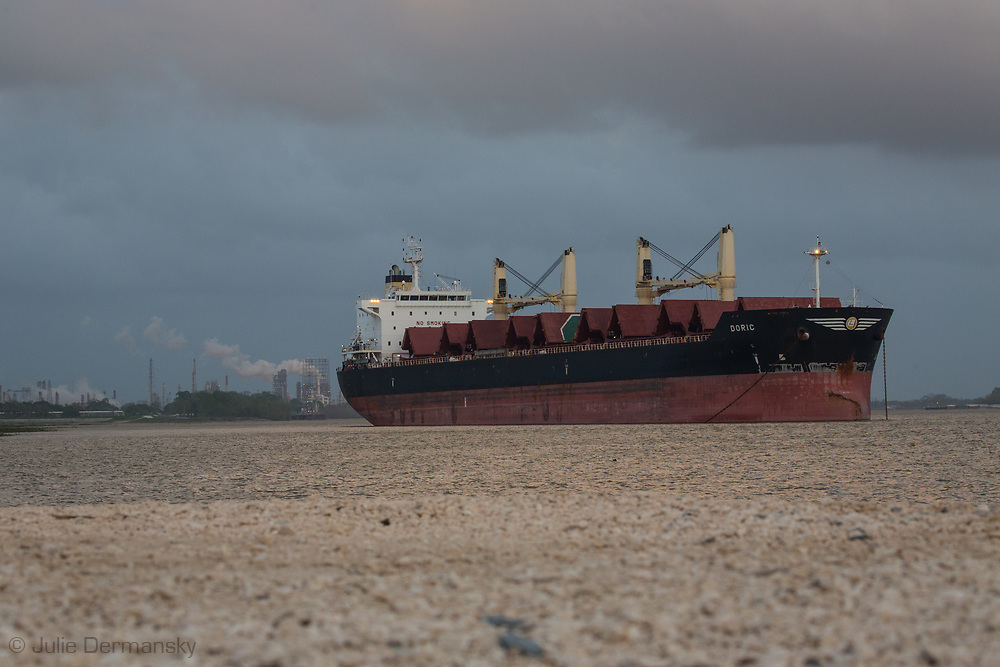 Ship on the Mississippi River at Norco .
