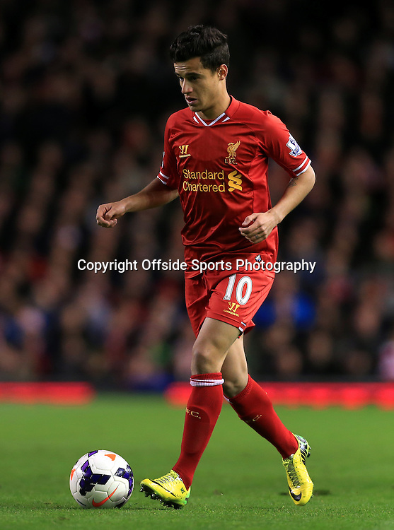 26th March 2014 - Barclays Premier League - Liverpool v Sunderland - Philippe Coutinho of Liverpool - Photo: Simon Stacpoole / Offside.