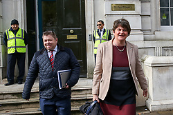 © Licensed to London News Pictures. 16/10/2019. London, UK. © Licensed to London News Pictures. 16/10/2019. London, UK. Leader of the Democratic Unionist Party (DUP) ARLENE FOSTER leaves Cabinet Office after a meeting with the Prime Minister BORIS JOHNSON. Photo credit: Dinendra Haria/LNPPhoto credit: Dinendra Haria/LNP