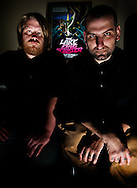 Jake Kelly, left, and John G, authors of the Lake Erie Monster.