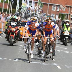 Sportfoto archief 2011<br /> Kopgroep NK 2011 Ootmarsum met Steven Kruiswijk, Laurens ten Dam