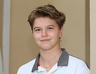 Juniorenspielerin Katharina Gerlach (GER),.Nachwuchs,Junior,Einzelbild,Halbkoerper,Portrait,.Querformat,DTB Lehrgang,