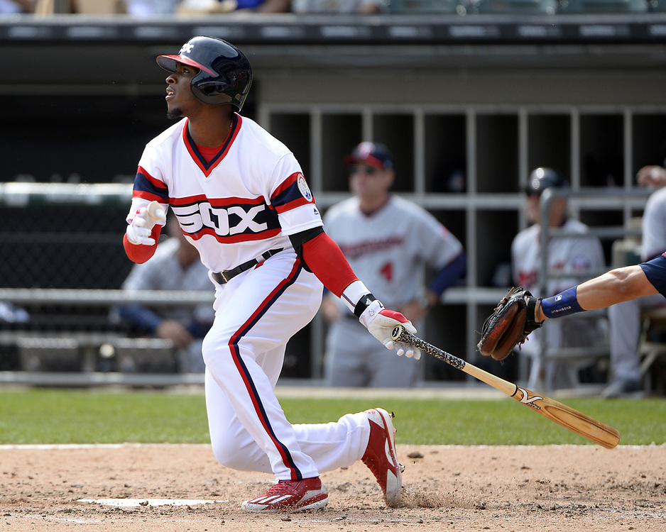CHICAGO - APRIL 09:  Tim Anderson #7 of the Chicago White Sox bats during the game against the Minnesota Twins on April 9, 2017 at Guaranteed Rate Field in Chicago, Illinois.  (Photo by Ron Vesely)   Subject:  Tim Anderson