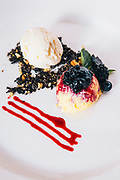 French baked cheesecake with fresh berries at 137 Pillar's House hotel, Chiang Mai