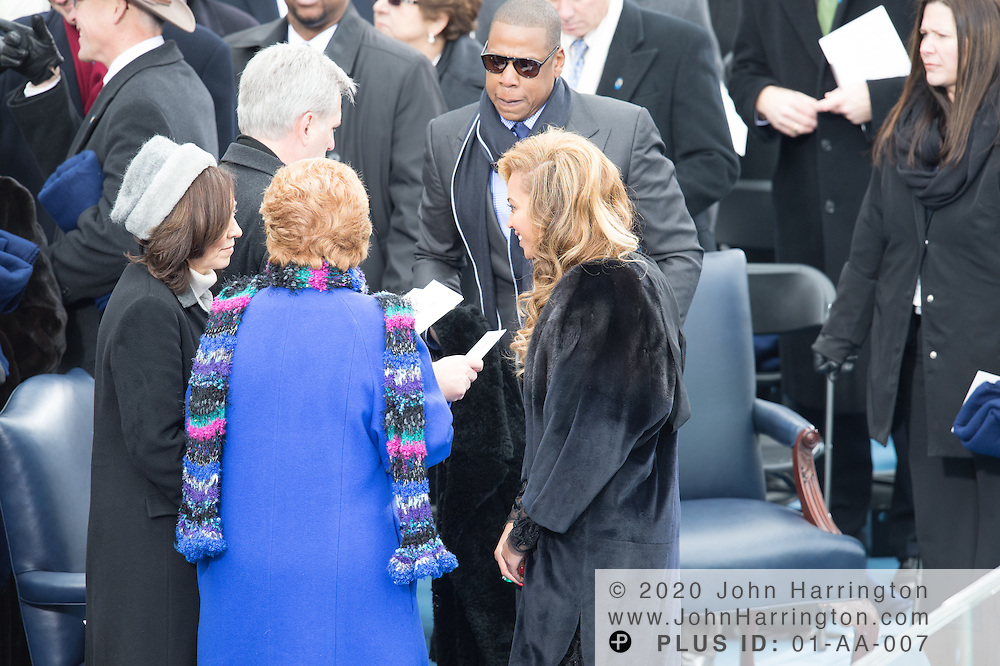 Sen.  Debbie Stabenow and Beyonce during the 57th Presidential Inauguration of President Barack Obama at the U.S. Capitol Building in Washington, DC January 21, 2013.