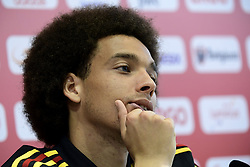 June 14, 2018 - Moscou, Russie - MOSCOW, RUSSIA - JUNE 14 :  Axel Witsel midfielder of Belgium pictured during a press conference of the National Soccer Team of Belgium as part of the preparation prior to the FIFA 2018 World Cup Russia group G phase match between Belgium and Panama at the Guchkova Sports center in Dedovsk on June 14, 2018 in Moscow, Russia, 14/06/2018  (Credit Image: © Panoramic via ZUMA Press)