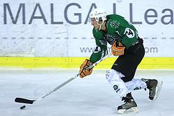 Anze Florjanic at ice hockey match between Toja Olimpija and Stavbar Maribor,  on November 19, 2008 in Arena Tivoli, Ljubljana, Slovenia. Stavbar Maribor won the match 3:2.  (Photo by Vid Ponikvar / Sportida)