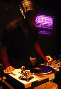 DJ Kevin Sauderson DJ'ing at Melkweg Amsterdam February 2002