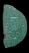 Jade Pendant of the Maize God. Mayan 400-800 AD