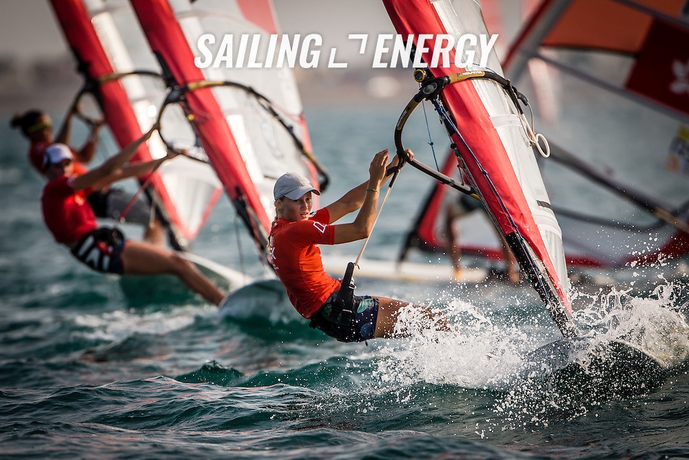 RS:X WORLD CHAMPIONSHIP 2015, October 17th-24th Al Mussanah Sports City, Sultanate. 4th day of racing, golden fleets 22.10.2015.RUS 271 Elfutina Stefania<br /> <br /> Credit Jesus Renedo/Oman Sail