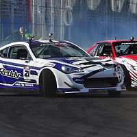 Ken Gushi competing in the Formula DRIFT 2012 at Toyota Grand Prix of Long Beach Street Course