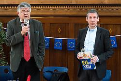 "25.03.2019, Vienna Business School, Wien, AUT, Präsentation des Schulbuchs ""EU for you, im Bild Otmar Lahodynsky (Profil) und Wolfgang Böhm (die Presse) // during an media briefing with presentation of the shool book ""EU for you"" in Vienna, Austria on 2019/03/25, EXPA Pictures © 2019, PhotoCredit: EXPA/ Michael Gruber"