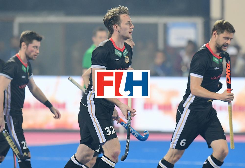 Odisha Men's Hockey World League Final Bhubaneswar 2017<br /> Match id:10<br /> India v Germany<br /> Foto: Germany scored a goal<br /> Niklas Bruns (Ger) and Martin Haener (Ger) <br /> WORLDSPORTPICS COPYRIGHT FRANK UIJLENBROEK
