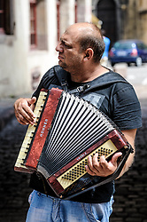 Street musician in Colmar, Alsace, France<br /> <br /> (c) Andrew Wilson | Edinburgh Elite media