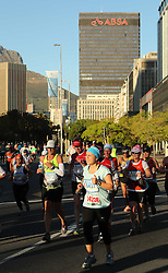 Runners make their way down adderley street during the 2016 Sanlam Cape Town marathon held in Cape Town, South Africa on the 18th September  2016<br /> <br /> Photo by: Ron Gaunt / RealTime Images