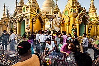 Offerings at Shwedagon Pagoda in Yangon.