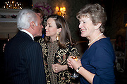 JOHN STEFANIDES; CHARLOTTE MOSLEY; GILL COLERIDGE; , The Dowager Duchess od Devonshire and Catherine Ostler editor of the Tatler host a party to celebrate Penguin's reissue of Nancy Mitford's ' Wigs on the Green.'  The French Salon. Claridge's. London. 10 March 2010.