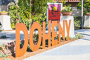 Doheny Metal Sign at Waterman's Sculpture Park in Dana Point