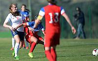 Fotball <br /> La Manga<br /> 28.02.2015<br /> Foto: Morten Olsen/Digitalsport<br /> <br /> Women U23 tournament<br /> Landskamp kvinner U23<br /> Norge v USA / Norway v USA 0:2<br /> <br /> Tonje Pedersen (6) - Norge