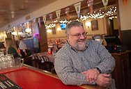 Michael Leifer  speaks about the state of his restaurant, which is directly across the street from the Reading Eagle, which is set to go on the auction block Wednesday, May 15, 2019 at Jimmie Kramer's The Peanut Bar in Reading, Pennsylvania. WILLIAM THOMAS CAIN / For The Inquirer