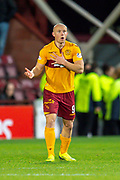 Curtis Main (#9) of Motherwell FC during the Ladbrokes Scottish Premiership match between Heart of Midlothian and Motherwell at Tynecastle Stadium, Edinburgh, Scotland on 8 December 2018.