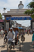 The India-Nepal border crossing at Belahiya, India. A lot of trafficking of women and children is know n to happen at this border so Manav Seva Sansthan (SEVA) run an anti trafficking project here.