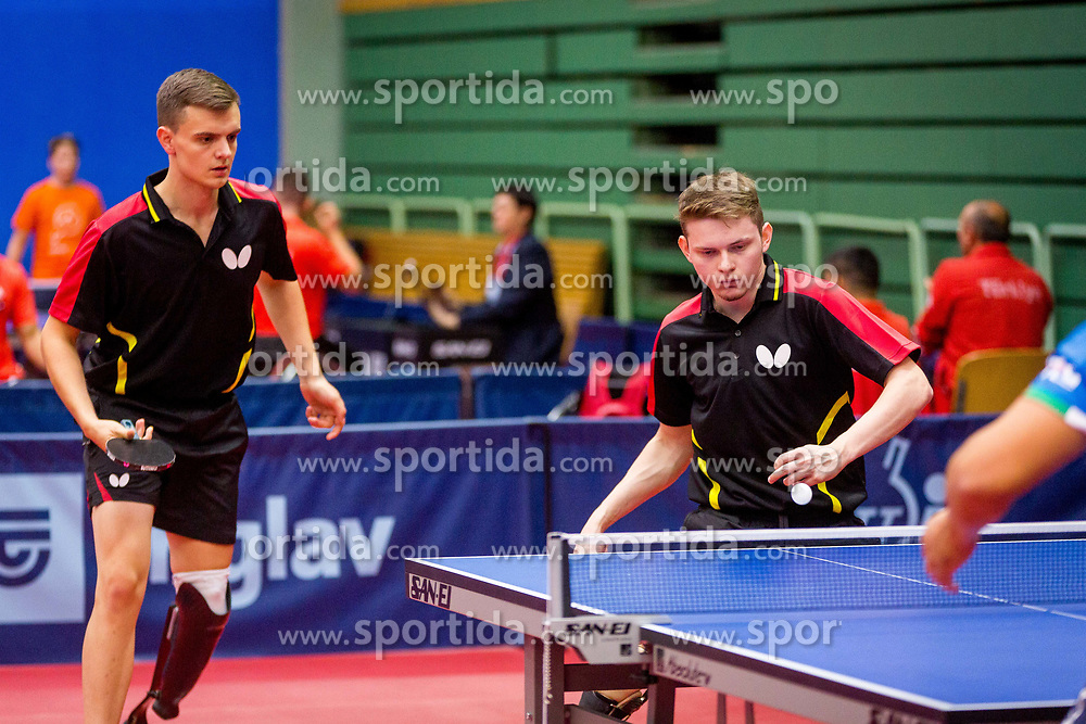 SWEDEN (GUSTAFSSON Daniel Sune Stefan and ANDERSSON Anders Niklas Tobias) during day 4 of 15th EPINT tournament - European Table Tennis Championships for the Disabled 2017, at Arena Tri Lilije, Lasko, Slovenia, on October 1, 2017. Photo by Ziga Zupan / Sportida