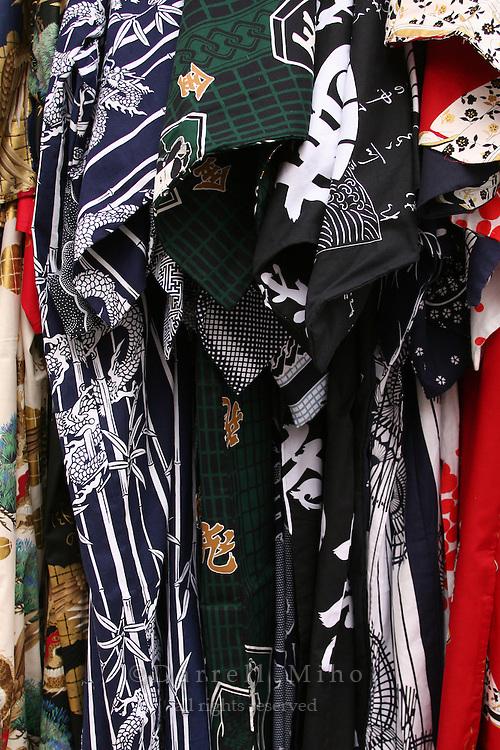 Mar 6, 2006; Tokyo, JPN; Asakusa.Japanese apparel on display at a shop on a side street near the Senso-ji Buddhist temple...Photo credit: Darrell Miho