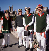 Bathampton Morris men in Bath, Somerset, England