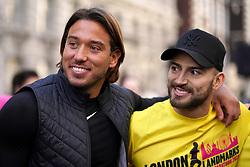 James Reach and James Quickenden during the 2019 London Landmarks Half Marathon.