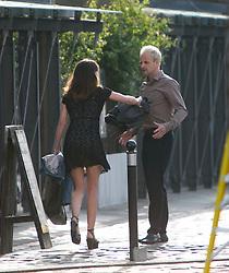 Jonny Lee Miller filming Transporting 2 in Leith.