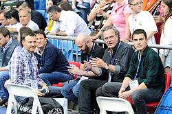 09.05.2015, Estadio Santiago Bernabeu, Madrid, ESP, Primera Division, Real Madrid vs FC Valencia, 36. Runde, im Bild Jose Coronado and Alex Gonzalez // during the Spanish Primera Division 36th round match between Real Madrid CF and Valencia FC at the Estadio Santiago Bernabeu in Madrid, Spain on 2015/05/09. EXPA Pictures &copy; 2015, PhotoCredit: EXPA/ Alterphotos/ Luis Fernandez<br /> <br /> *****ATTENTION - OUT of ESP, SUI*****