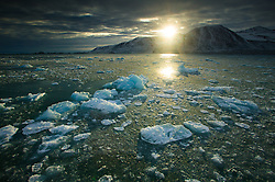 Drifting ice near Spitsbergen, Svalbard