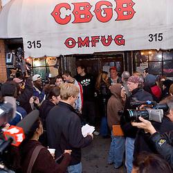 CBGB's Closing