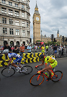 LONDON UK 30TH JULY 2016:  Martina Alzini Parliament Square. The Prudential RideLondon Classique elite womens' race. Prudential RideLondon in London 30th July 2016<br /> <br /> Photo: Bob Martin/Silverhub for Prudential RideLondon<br /> <br /> Prudential RideLondon is the world's greatest festival of cycling, involving 95,000+ cyclists – from Olympic champions to a free family fun ride - riding in events over closed roads in London and Surrey over the weekend of 29th to 31st July 2016. <br /> <br /> See www.PrudentialRideLondon.co.uk for more.<br /> <br /> For further information: media@londonmarathonevents.co.uk