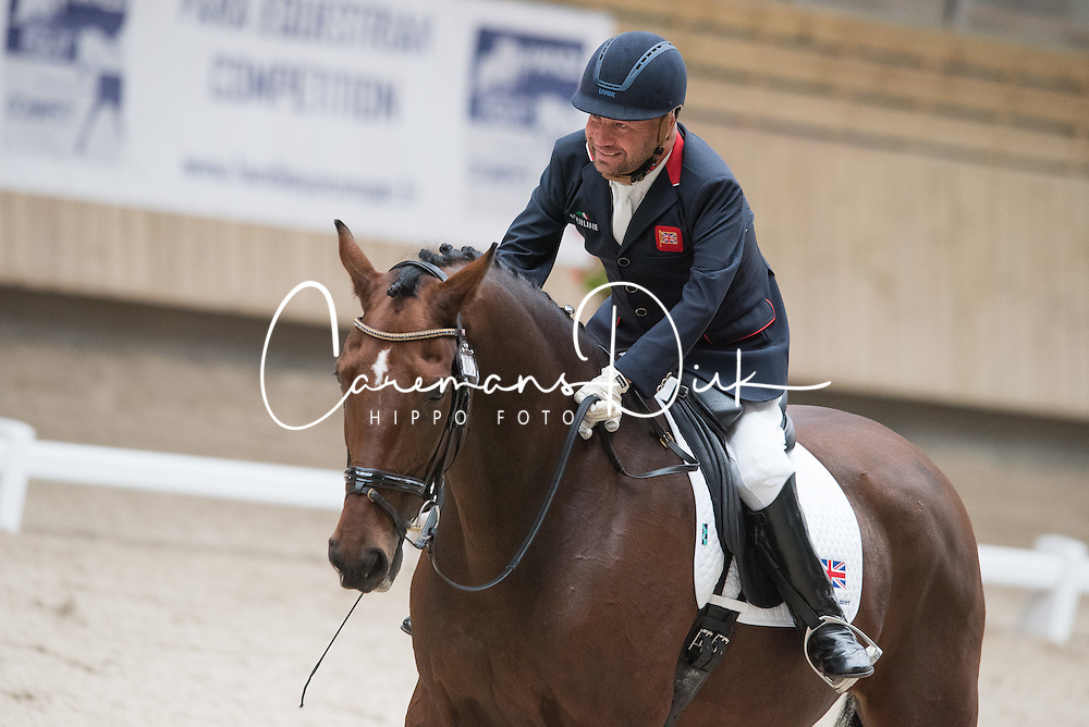 Pearson Lee, (GBR), Zion<br /> Grade Ib Team Test<br /> Para-Dressage FEI European Championships Deauville 2015<br /> © Hippo Foto - Jon Stroud<br /> 18/09/15