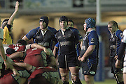 2005/06 Powergen Cup, Bath Rugby vs Gloucester Rugby, Bath's second row forwards left Danny Grewcock and Steve Borthwick,  Matt Stevens blue cap, The Rec, on the 03.12.2005.   © Peter Spurrier/Intersport Images - email images@intersport-images..