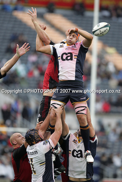Brumbies' Alister Campbell in action. Crusaders v Brumbies. Super 14. AMI Stadium, Christchurch, New Zealand. Friday 15 February 2008. Photo: Hagen Hopkins/PHOTOSPORT