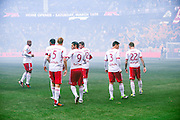 HARRISON, NJ - MARCH 16: Members of the New York Red Bulls prepare for their game against the D.C. United at Red Bulls Arena on March 16, 2013. (Photo By: Rob Tringali)